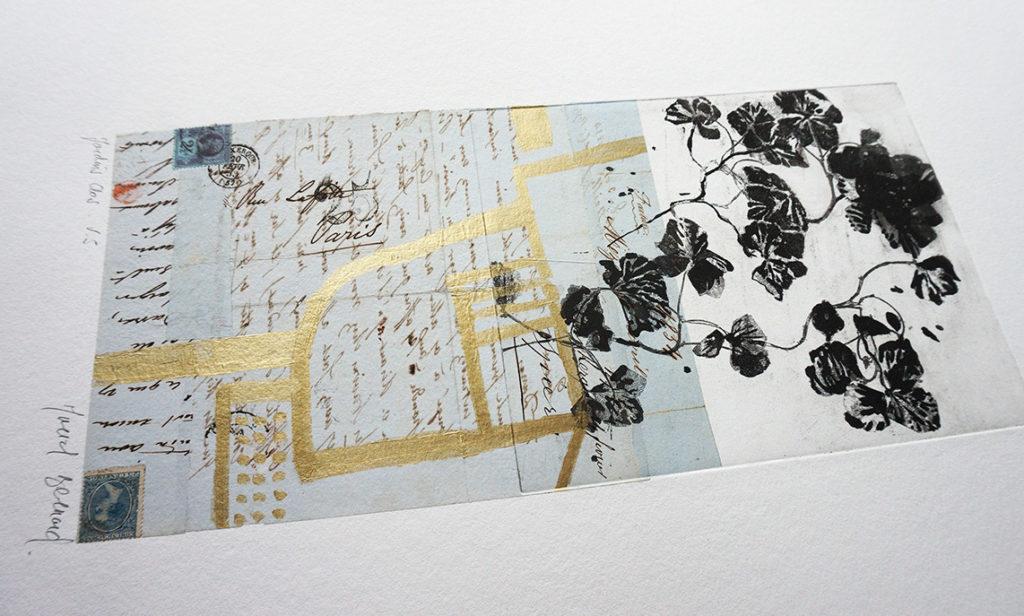 Les Jardins Clos font partie d'une série de monotypes réalisés en 2021 par Muriel Bernard